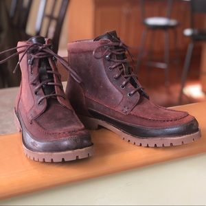 Wolverine 1883 Gainor Oxblood Suede Leather Boots